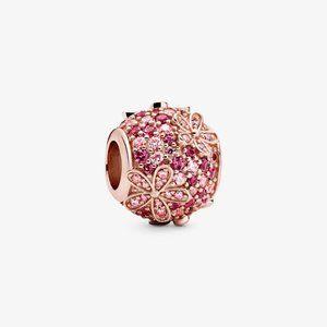 ♉Pandora  Pink Pavé Daisy Flower Charm